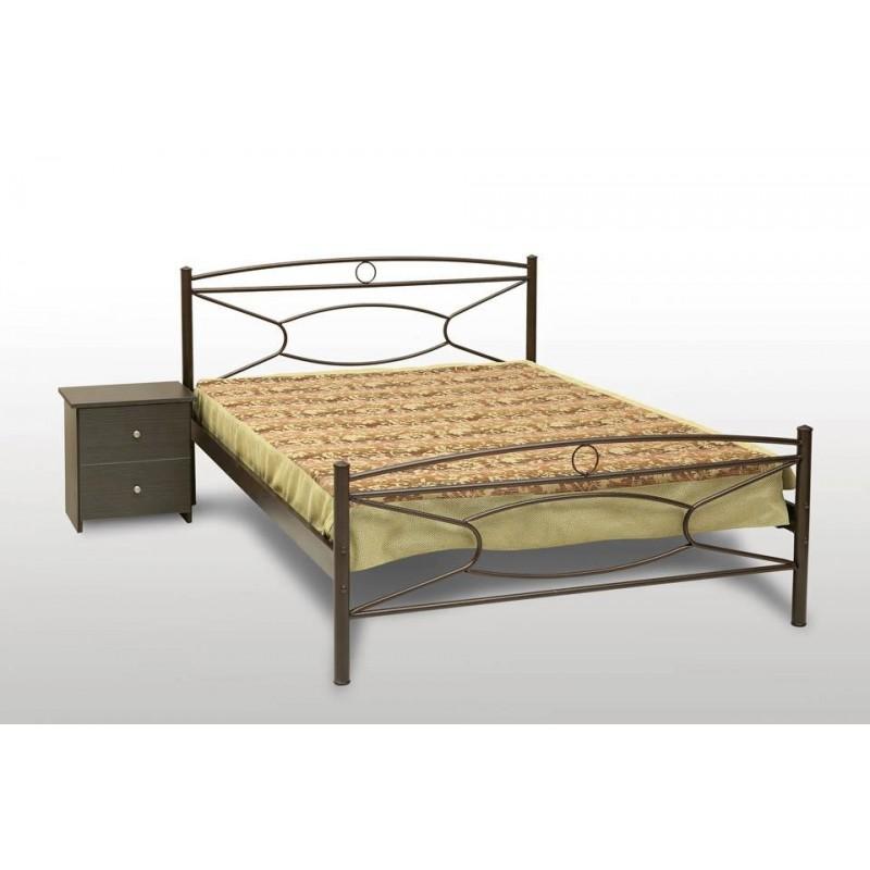 κρεβάτι μεταλλικό Κρίκος-τάπα