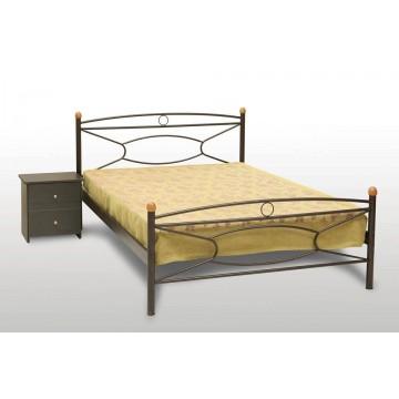 κρεβάτι μεταλλικό Κρίκος-ξύλο