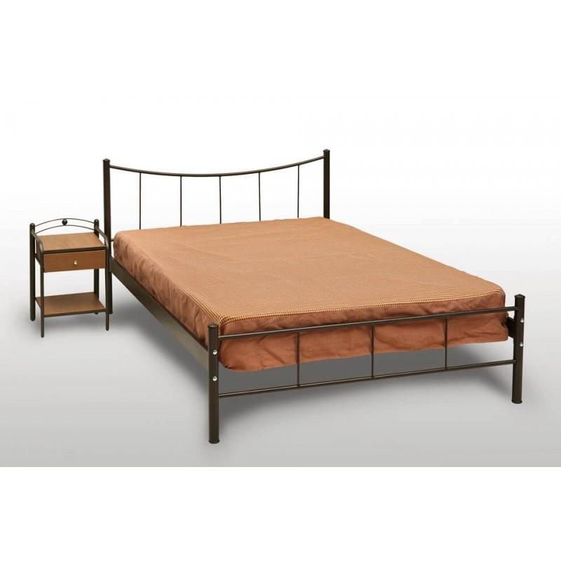 Μεταλλικό κρεβάτι χαμόγελο με στρώμα foam